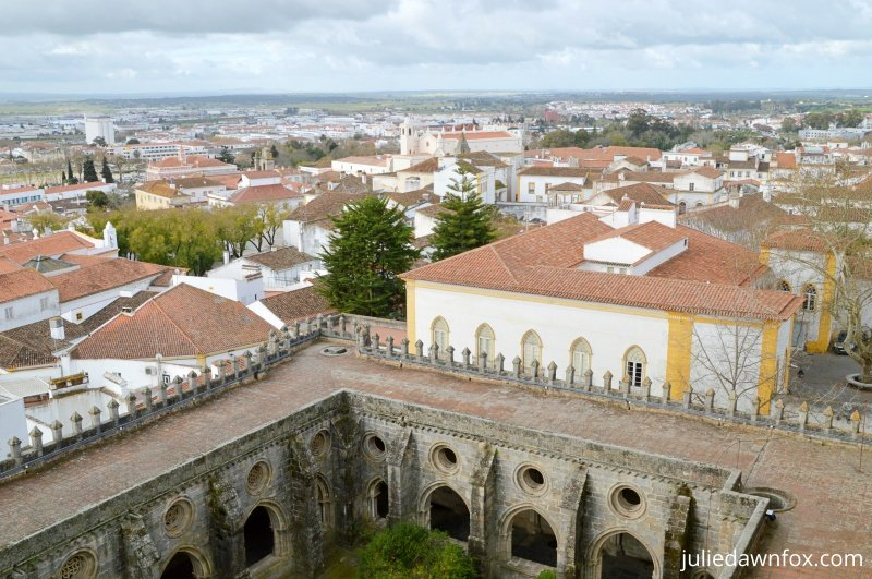 View from the roof of Évora Cathedral