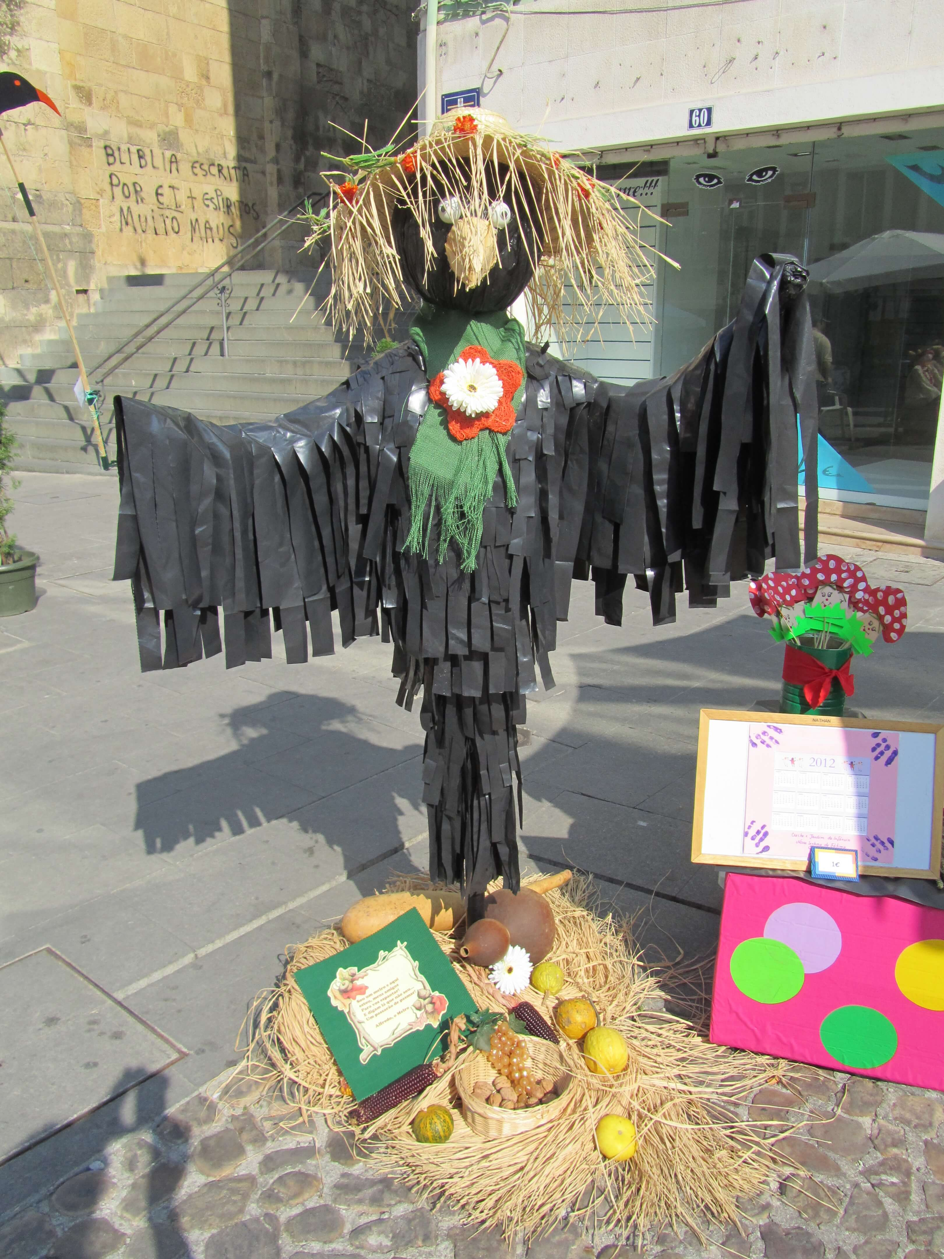 scarecrows with history at coimbra s annual scarecrow festival