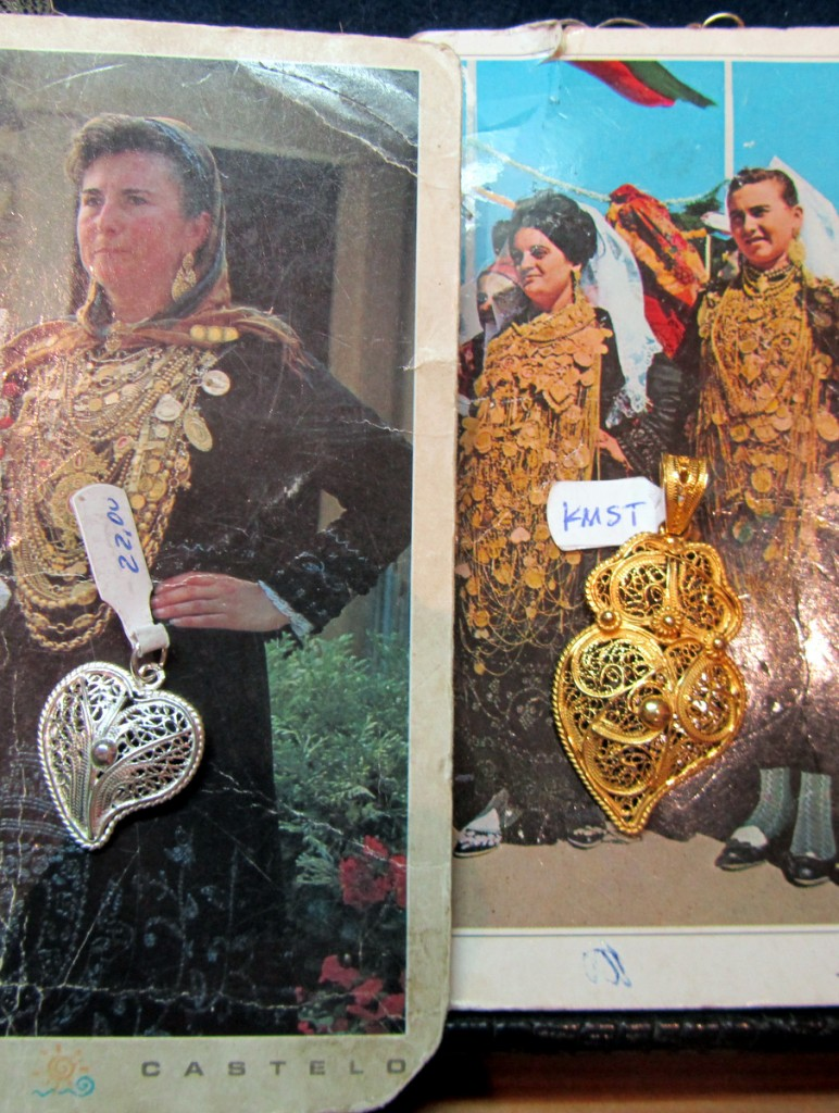 women wearing ridiculous amounts of gold necklaces in Portugal