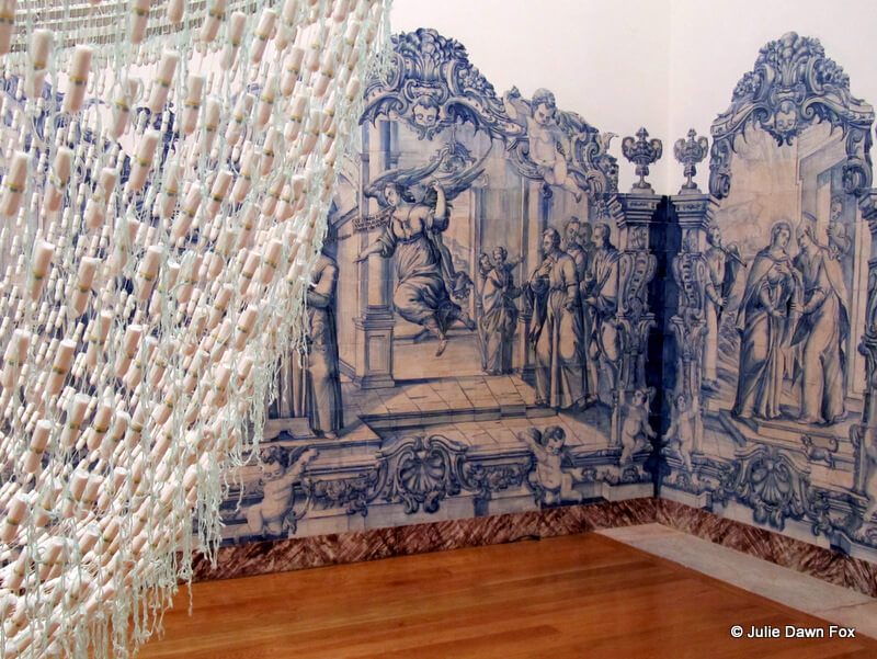 A Noiva, tampon chandelier by Joana Vasconcelos at MACE