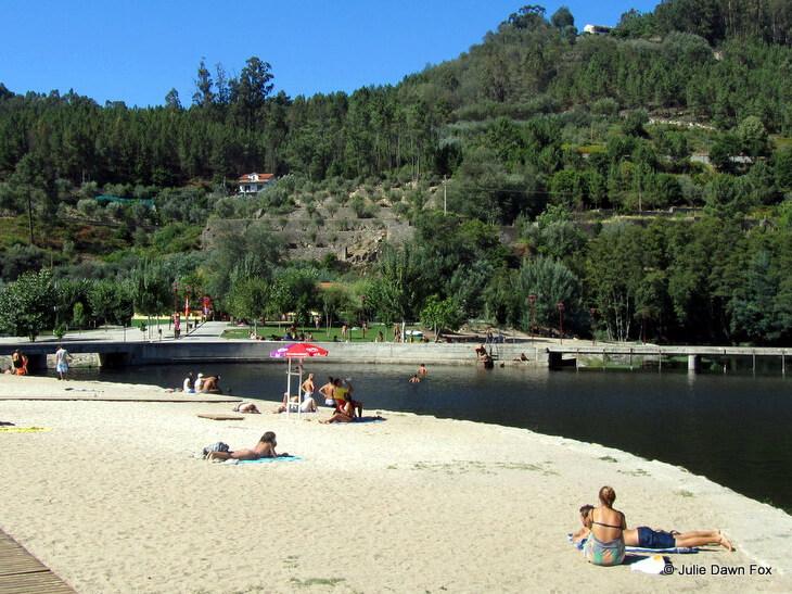 River beach, Avô, Portugal