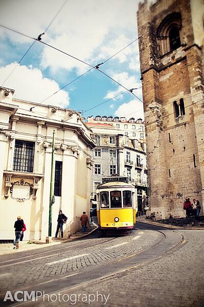 Tram, Alfama, Lisbon, Portugal