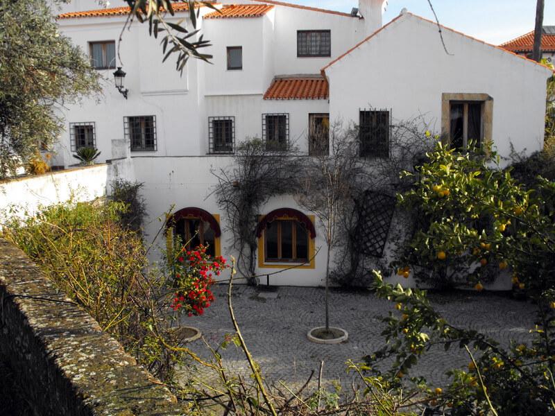Courtyard inside the Hotel Sao Joao de Deus in Elvas