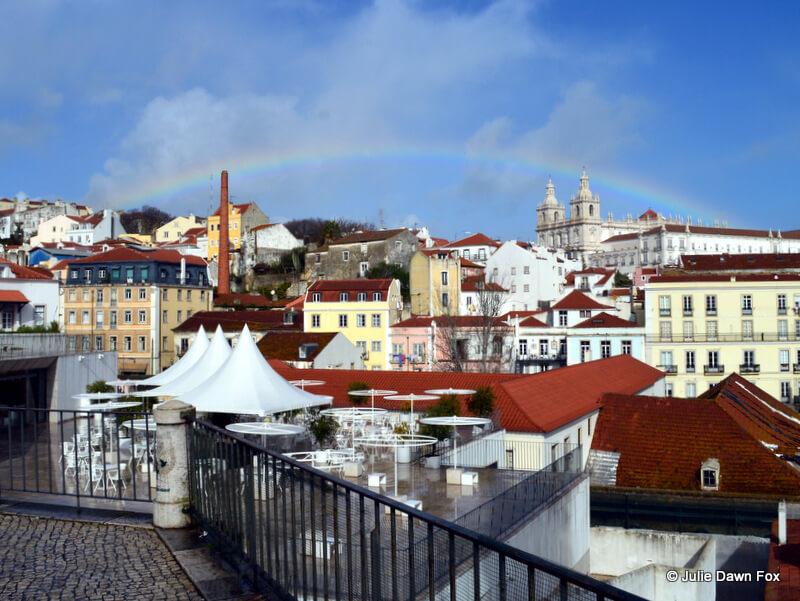 Rainbow over São Vicente da Fora monastery, Lisbon