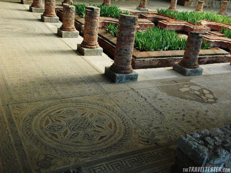 Roman mosaics at Conimbriga, Portugal