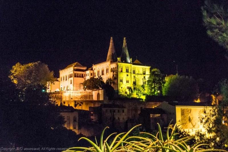 Sintra Pena Palace at night
