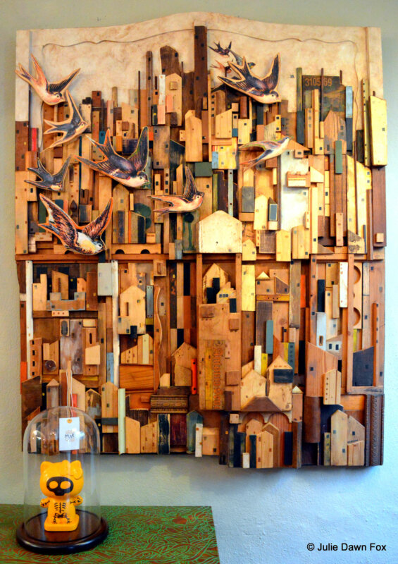 Wooden collage by Gezo Marques