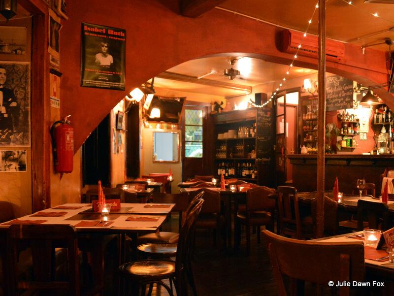 Cosy atmosphere at Café Buenos Aires, Lisbon
