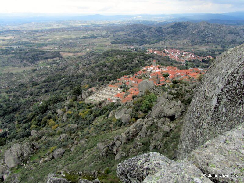 View of Monsanto from the hilltop castle