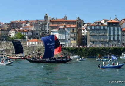 Rabelo boats reach Porto's Ribeira district