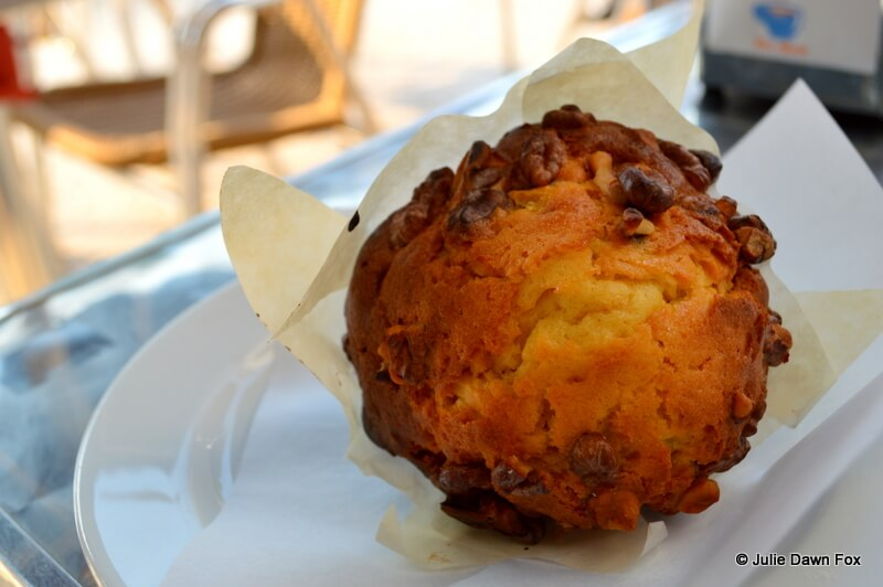 Walnut muffin, queque de noz
