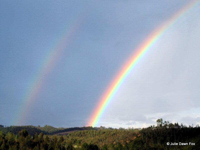 Double rainbow in Moura Morta