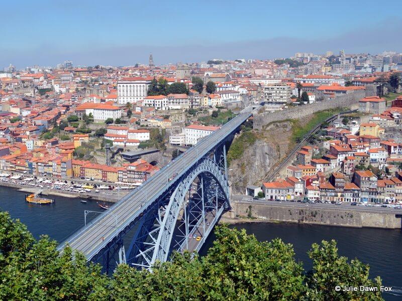 Dom Luís bridge, from the top of Serra do Pilar Monastery, Vila Nova de Gaia, Porto