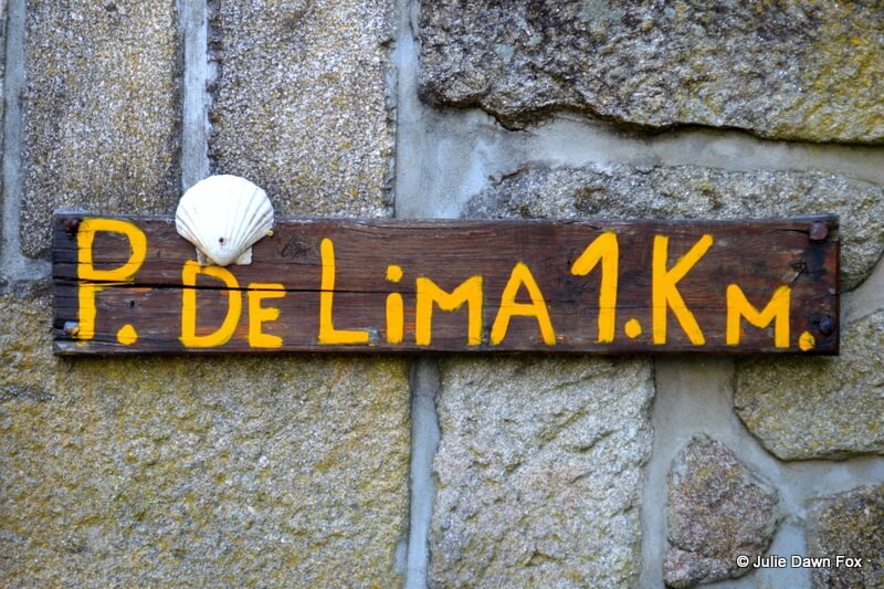 Pilgrimage sign on the Way of St James