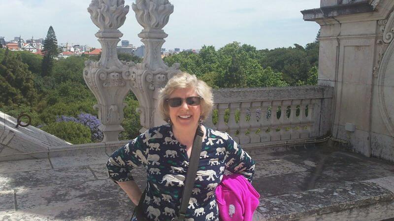 Carolyn on the roof of Basilica da Estrela, Lisbon © Terry Borst