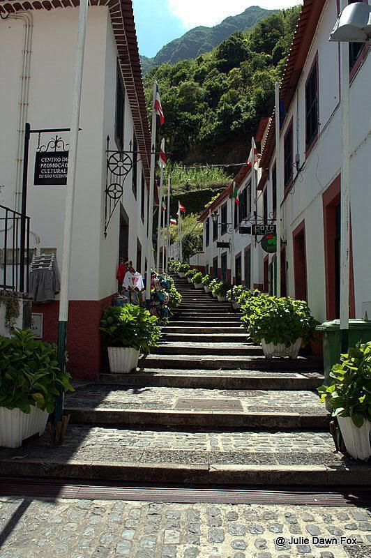 Cobbled steps, São Vicente, Madeira