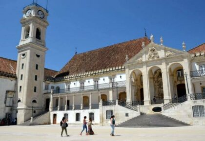 Coimbra University. Seen on a family road trip to Portugal