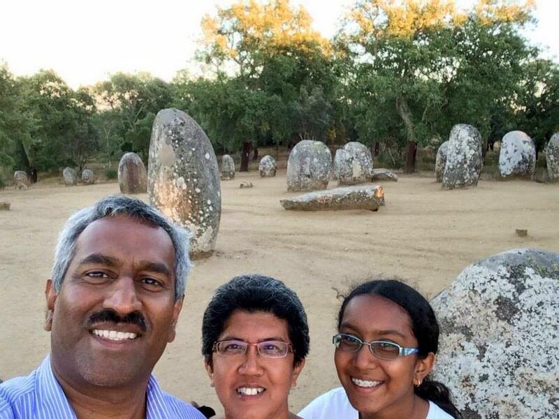 Natalie Bheeni and family. Selfie at Evora.