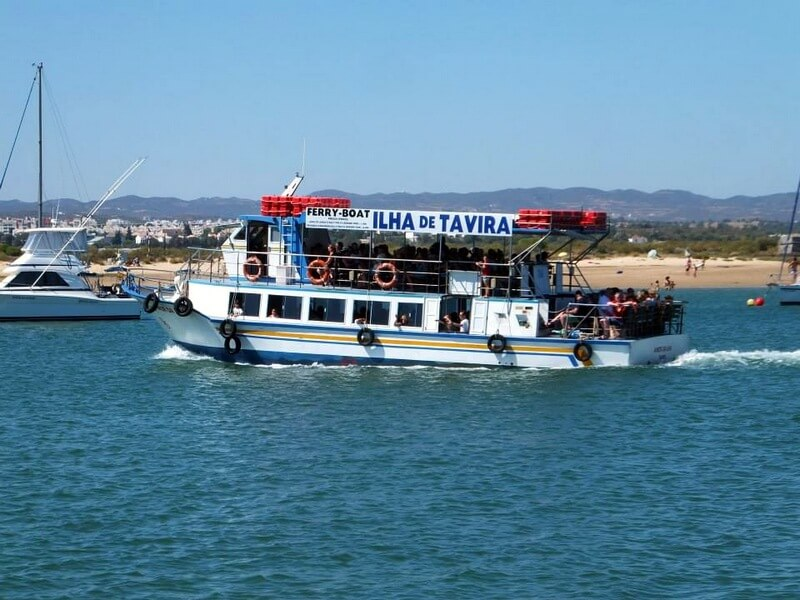 The ferry to Ilha Tavira Algarve, Portugal