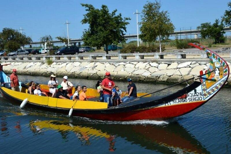 Traditional Moliceiro boat, Aveiro.