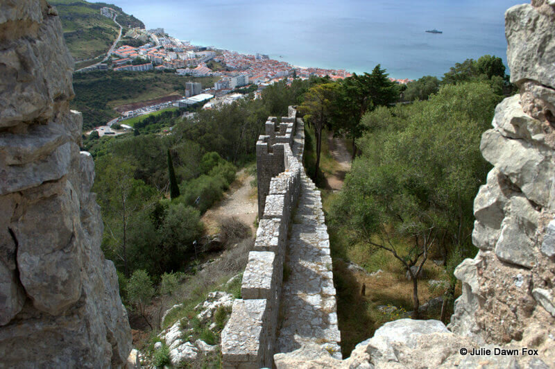 View from battlements, Sesimbra castle, Portugal