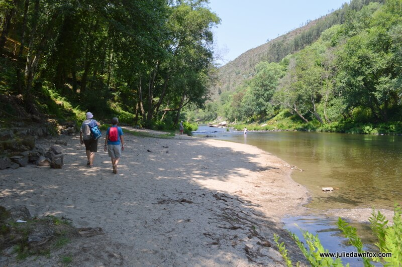 Unofficial river beach, Paiva boardwalk, Arouca