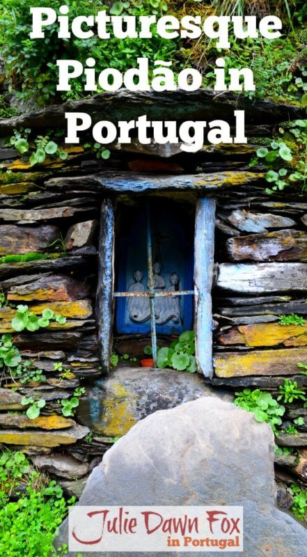 Picturesque Piodão. Shrine in a stone wall at Foz d'Egua