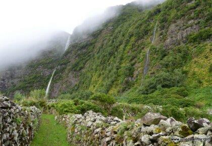 Path near the waterfalls, Fajã Grande, Flores, Azores, Portugal. Photography by Julie Dawn Fox