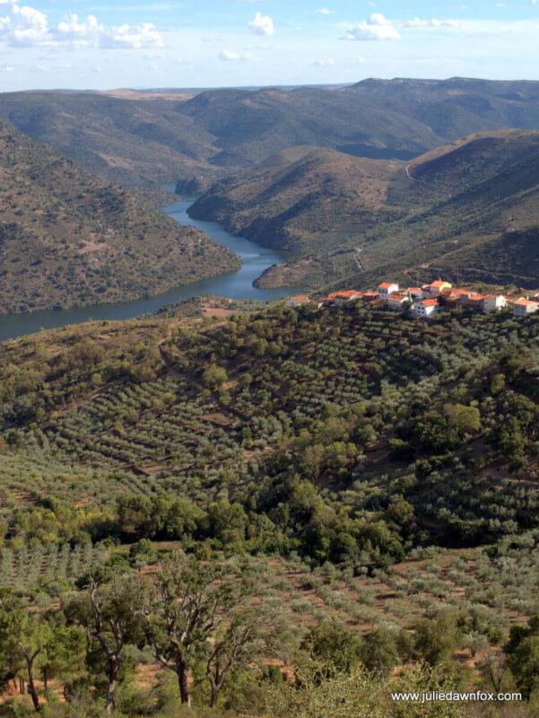 View of Douro River and valley from Miradouro do Colado, Mazouco, near Freixo da Espada à Cinta