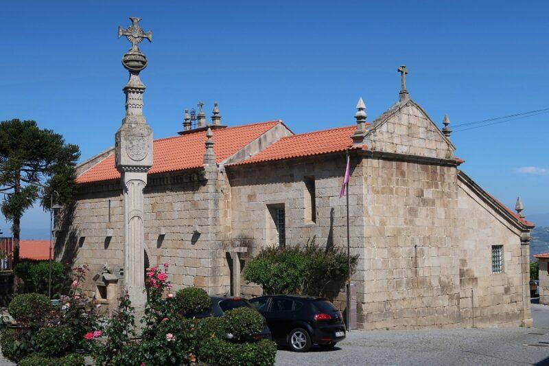 Church and pillory, Barcos. Aldeia Vinhateira do Douro, Portugal