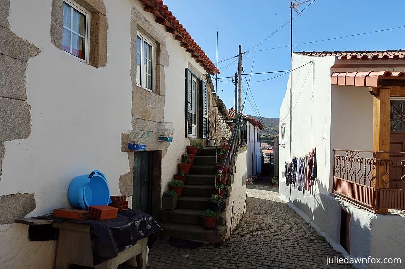 Village streets Trevões, Douro wine village