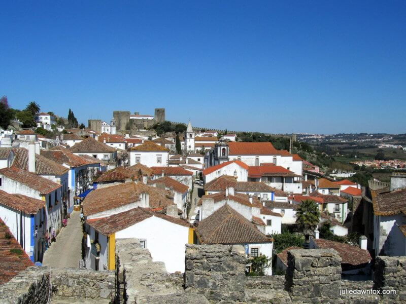 Óbidos historical village from the castle walls