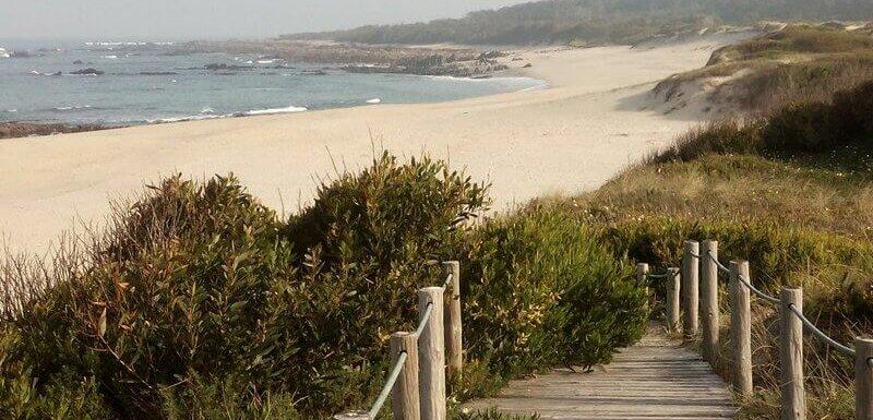 Afife beach. Unspoilt Atlantic coastline, northern Portugal