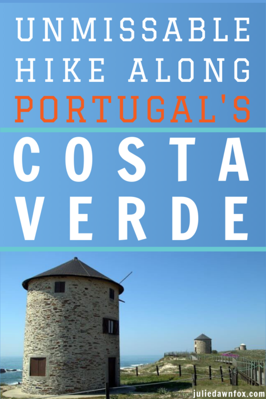 Windmills on the coast. Unspoilt Costa Verde Walk, A Leisurely Alternative To The Coastal Camino Portugûes