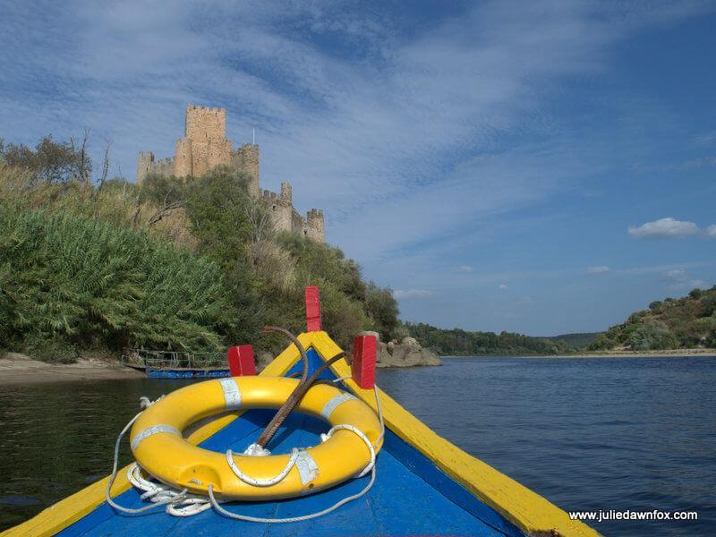 Boat trip to Almourol castle, Portugal. Photography by Julie Dawn Fox