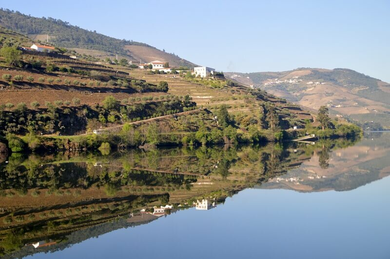 Douro reflections from the Regua-Pinhão train journey