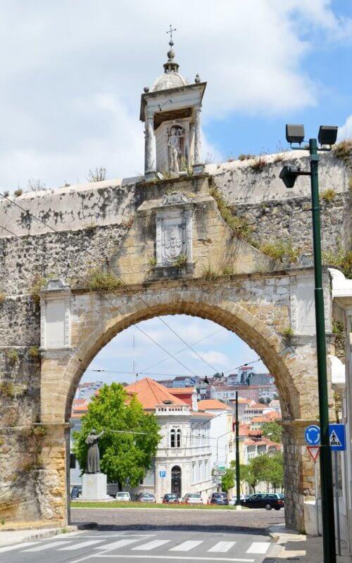 Coimbra through the archway, Arcos de São Sebastião, Coimbra