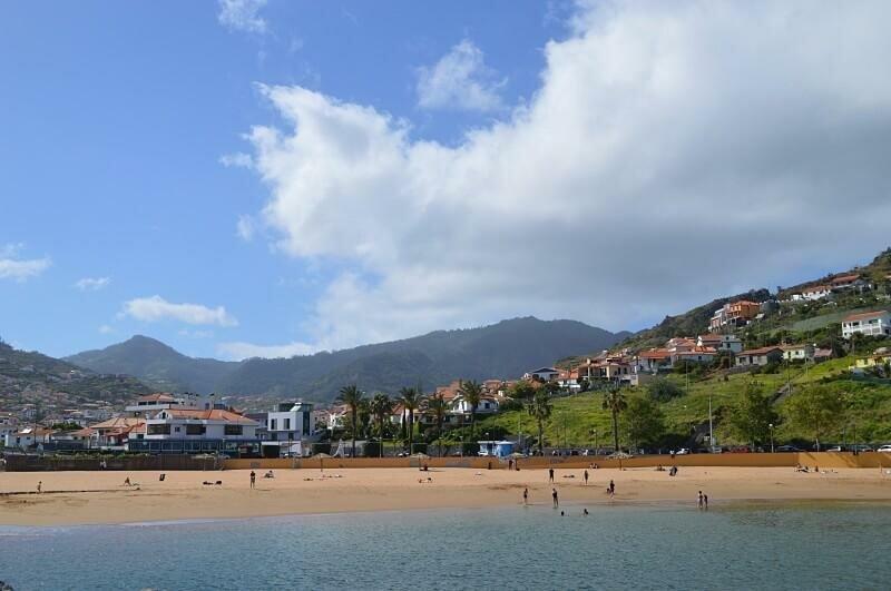 Beach and town, Machico, Madeira