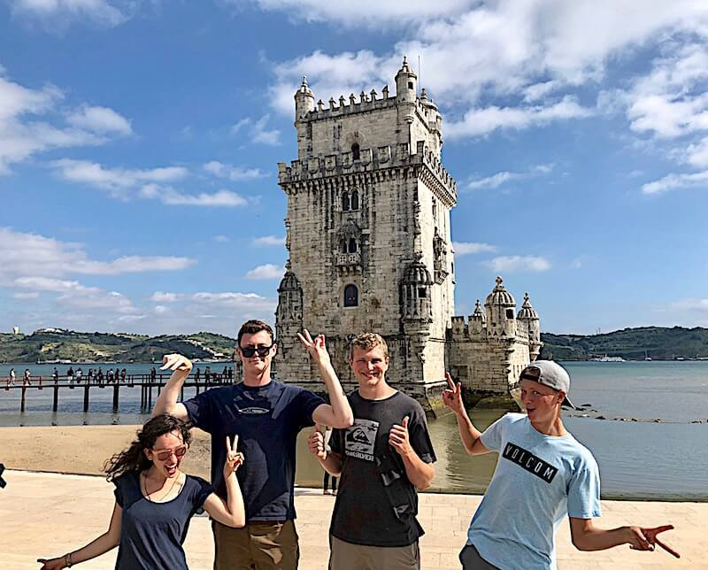Photo opportunities in front of Belem, Tower, Lisbon