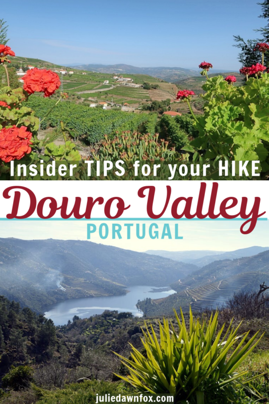 Reddish flowers and misty river. The beautiful Douro Valley in Portugal, Europe, is a fantastic backdrop for a hike. Unfortunately, though there are a number of trails, using them is not always as easy as it sounds. Read this insider guide by someone who's tried (and sometimes failed!) to follow the official trails - and find out how to make the most of your walks in this stunning countryside.