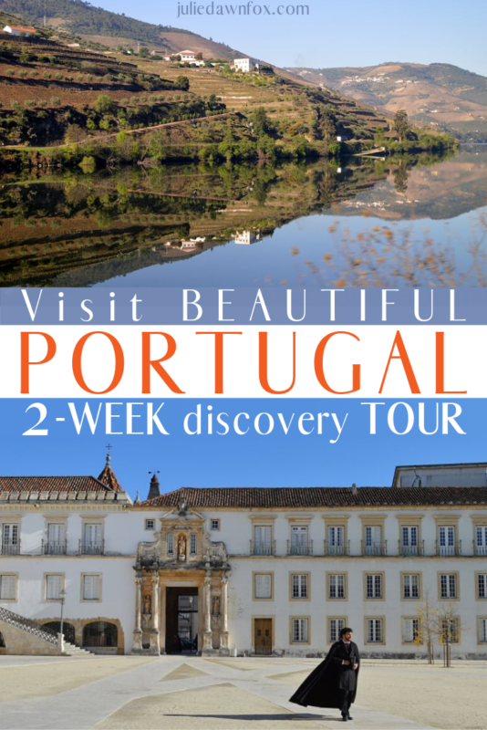 Douro reflection and Coimbra University. 2-Week Portugal Discovery Tour _ Julie Dawn Fox in Portugal