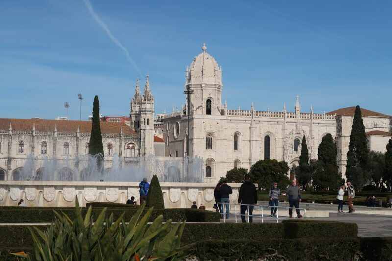 Praça do Império and Jeronimos Monastery, Belém, Lisbon
