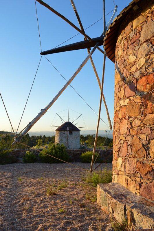 Stone windmills, Serra da Atalhada, Portugal. Photography by Julie Dawn Fox