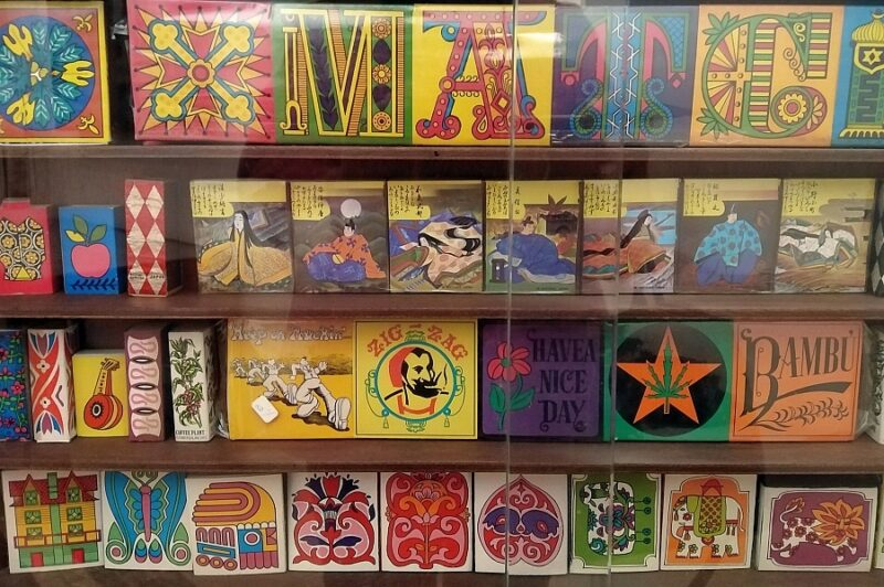 Colourful collection of matchboxes, Matchbox Museum, Tomar